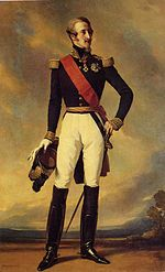 Prince Louis, Duke of Nemours wearing a red sash (Legion of Honour). 1840's.