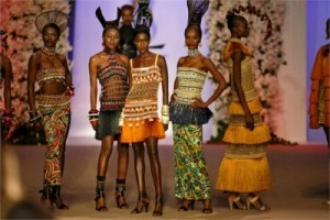 Yves St LAurent African beaded dresses