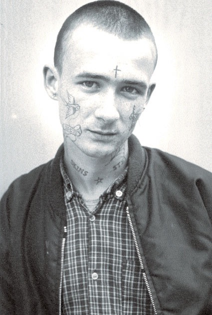Meaning crucified skinhead tattoo Face of